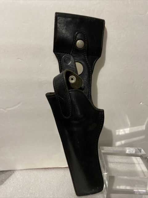 Safariland Colt Revolver Med Frame Swivel Police Black Leather Holster  LH
