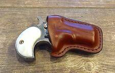 American Derringer/Cobra Leather Pocket Holster Form Fitted For Standard .22LR