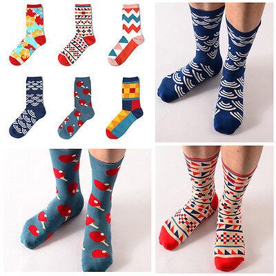 New Casual Cotton Socks Design Multi-Color Fashion Dress Mens Women/'s Socks