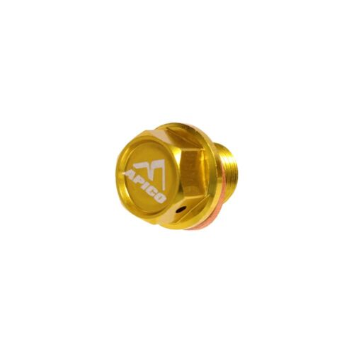 APICO MAGNETIC SUMP OIL DRAIN BOLT M12 X 10mm X 1.25 Suzuki RM125 01-08 YELLOW