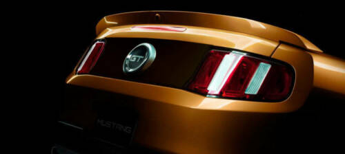 """2012 MUSTANG Rear /""""MAGNETIC/"""" Blackout Panel 2010,2011"""