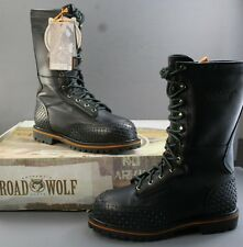 Men's Road Wolf Lace Up Work Boot Down Under Safety Toe 9W biker riding boo