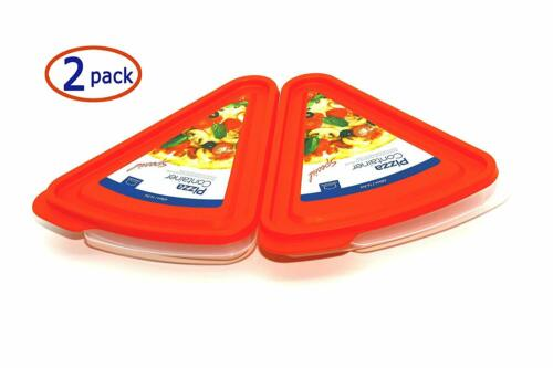 Lock /& Lock Pizza Slice Container 2 Pack Tray and Saver
