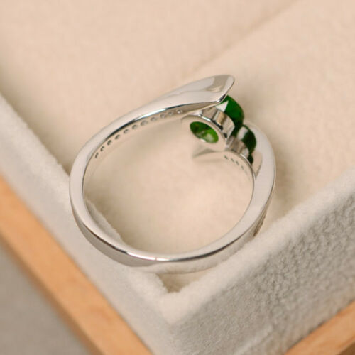 Gorgeous 925 Silver Women Wedding Rings Birthstone Cocktail Ring Size 6-10