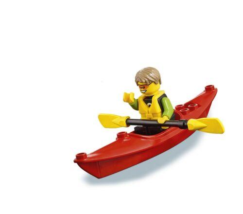 LEGO CITY  MINIFIGURA  `` BEACHGOER KAYAKER´´  Ref 60153   NUEVA 100X100 LEGO