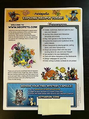 SDCC 2018 Comic Con Neopets Neopia Mystery Capsule Code DELIVERS IN HOURS