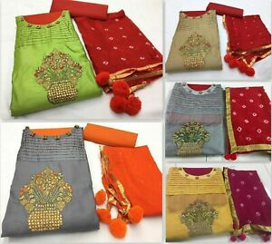 Kameez-Salwar-Suit-unstitch-Indian-Pakistani-Dress-Designer-Wear-Party-Shalwar-J