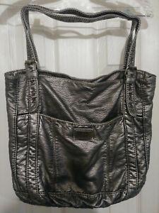 Red Leather Smithville Shoulder Handbag