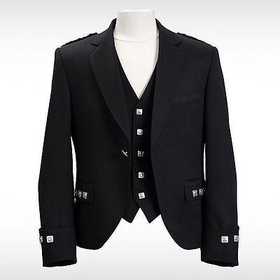 Besorgt 100% Wool Blazer Traditional Mens Scottish Argyle Kilt Jacket & Waistcoat/vest HeißEr Verkauf 50-70% Rabatt