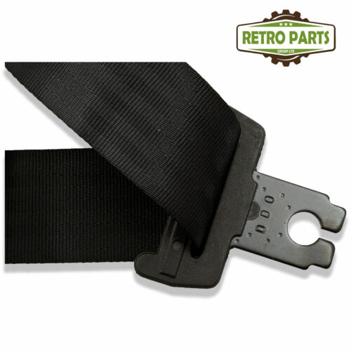Rear Static Seat Belt For Fiat 126 Convertible  Black