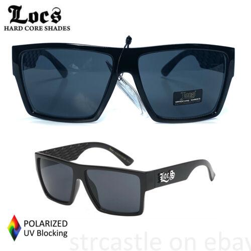 Mens LOCS Black Dark Lens Gangster Cholo Slim Shade Sunglasses OG biker SUN-108