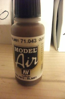 Av Vallejo Model Air Olive Drab 17ml Bottle Honest Airbrush Paint Val043
