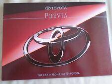 Toyota Previa brochure c1994