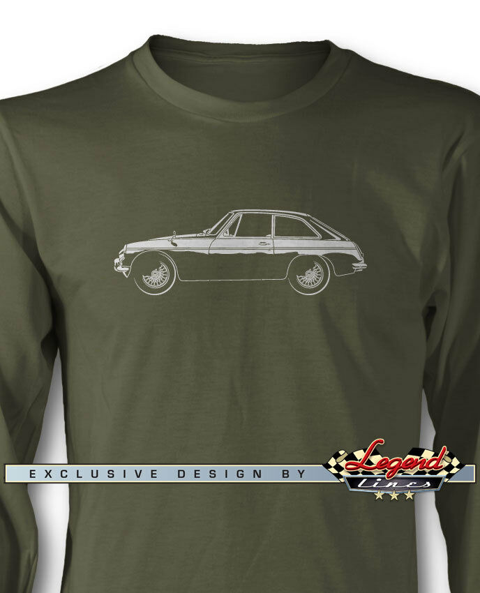 MG MGB GT Coupe Long Sleeves T-Shirt - Multiple colors and Sizes - British Car