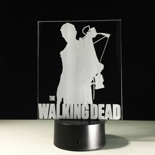 3D LED Night Light The Walking Dead Daryl Touch Swift Table Desk Bed Lamp Gifts