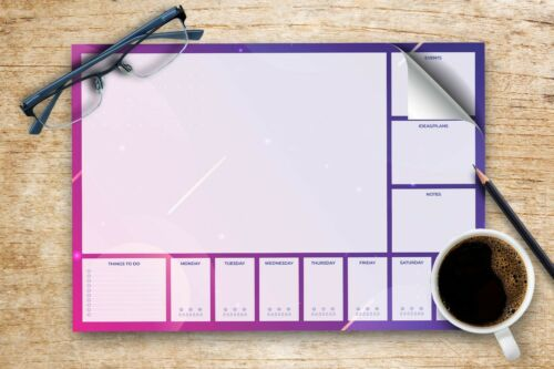 A4 Everyday Desk Pad with 50 Tear-Off Sheets One Size of Days of The Week