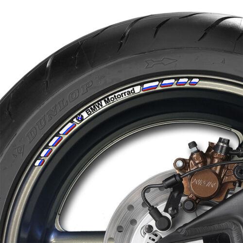 gs s1000rr xr 8 x BMW Motorrad Wheel Rim Decals Stickers Racing Stripes v1
