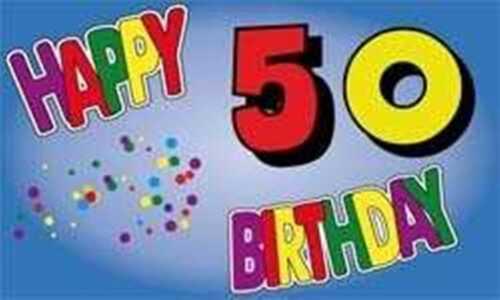 50 Jahre Glückwunsch Geburtstag Happy Birthday Fahne Flagge 1,50x0,90m