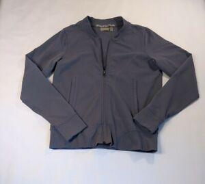 Athleta Full Zip Jacket Size Small Long Sleeve Gray Running Women's Athletic