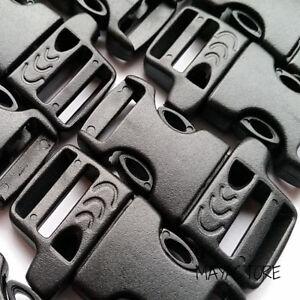 15mm-Paracord-hebillas-pipa-hebilla-pulsera-clic-cierre-negro-Buckles