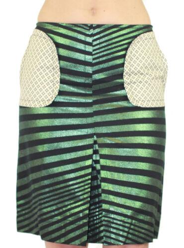 CUSTO BARCELONA Women/'s Lux Topaz Striped Pencil Skirt 293538 $133 NWT