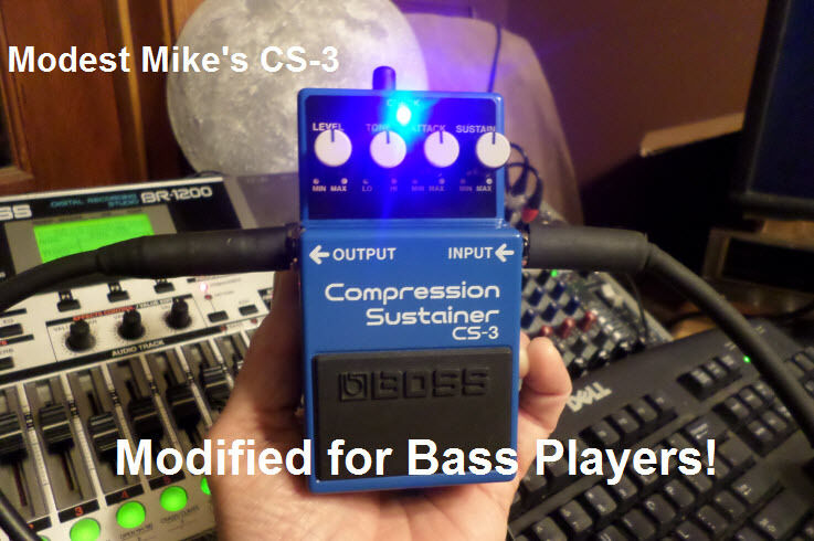 Modest Mike's Boss CS-3 Modified for Bass Players
