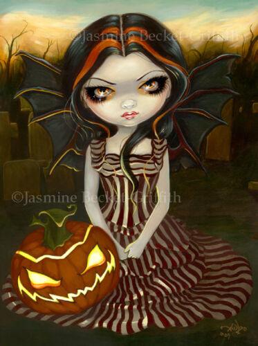 Jasmine Becket-Griffith art BIG print SIGNED Halloween Twilight pumpkin autumn
