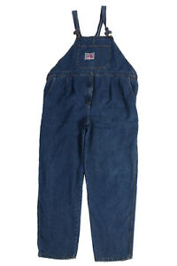 Vintage Unbranded Stone Washed Long Dungarees Xxl Blue Dd256
