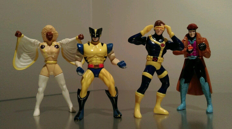 Very Rare All 4 X-Men Burger King 4  Figures MARVEL COMICS 1996 The Complete Set