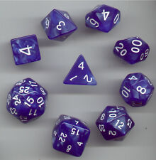 NEW Special RPG Dice 9pc - Pearl Blue- standard set plus D24 & D30