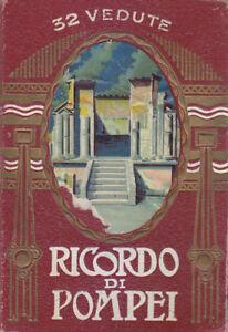 RICORDO-DI-POMPEI-32-VEDUTE-ORIGINALE-ANNI-039-20-libretto-cartoline-fisarmonica