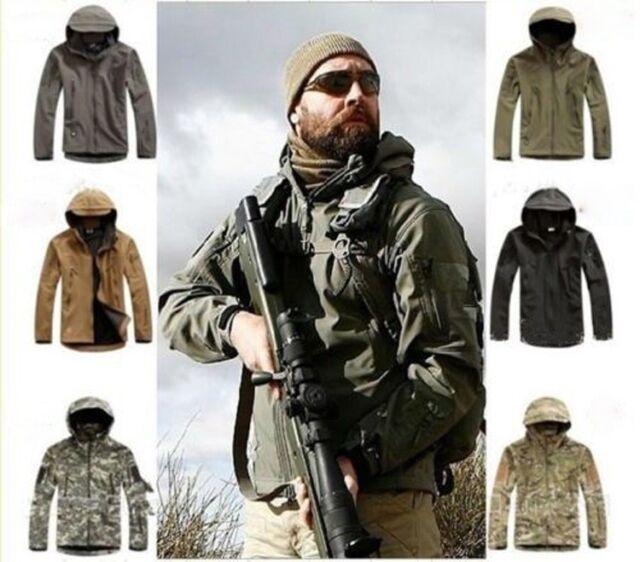 Vintage Men's Outdoor Hunting Camping Waterproof Coats Jackets Outerwear Hoodie