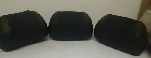 2000 01 02 03 04 Subaru Legacy Sedan Rear Seat Black Head Rest Set of 3 OEM