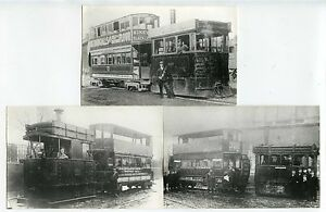 Details about STEAM TRAMS DRIVER + CONDUCTOR FACES CLEAR SALTLEY ROCHDALE  etc 3 PHOTOS 1880-19