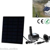 Solar Power Panel Water Kit Pump Fountain Pool Garden Pond Watering Set Us Ac