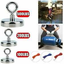 Fishing Magnet Kit Up To 500 Lb Pull Force Super Strong Neodymium With 10m Rope Us