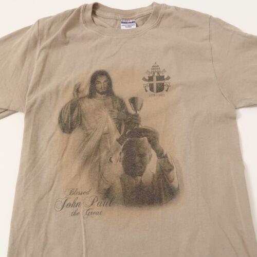 Pope John Paul T Shirt Small Papal Catholic Jesus