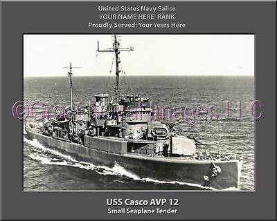 USS Valcour AVP 55 Personalized Canvas Ship Photo Print Navy Veteran Gift