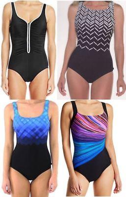 NWT Reebok Ladies' One Piece Swimsuit U Back, Size 8 18 | eBay