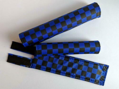 Black and Blue BMX Checker Pad Set by Flite
