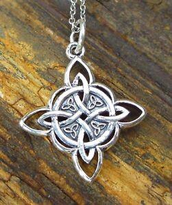 Keltischer Drache 925 Silber Anhänger Kette Knoten Kelten Wikinger