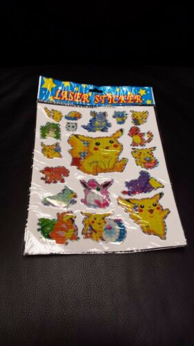 Pokemon Laser Stickers 100 new ind wrapped sheets per pkg Retails $100 /& up