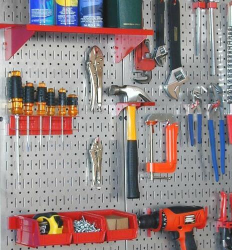 Wall Mount Metal Tool Pegboard Panel Board Steel Garage Storage Hanger Shed Hook