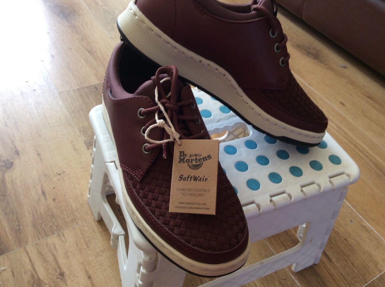 vendite online LADIES DR MARTENS SOFT SOFT SOFT WAIR UK6 BURGUNDY LACE UP BNWT WALKING LIGHTWEIGHT scarpe  autentico online