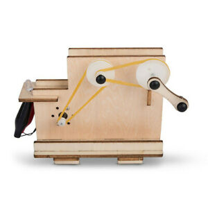 Heebie-Jeebies-Wood-Kit-Hand-crank-Generator-LED-Light-Educational-Kids-Fun-Toy