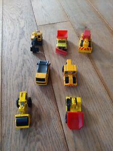 VINTAGE-Matchbox-e-CORGI-JUNIORS-costruzione-JOB-LOTTO-7-oggetti