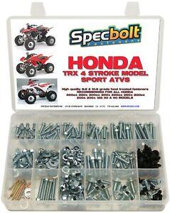 Bolt Kit Honda TRX450 R 700XX ATV frame body plastic fenders Specbolt #0029