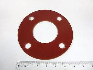 3-034-X-1-8-034-Red-Rubber-FULL-FACE-Water-Meter-Fitting-Flange-Gasket-NEW