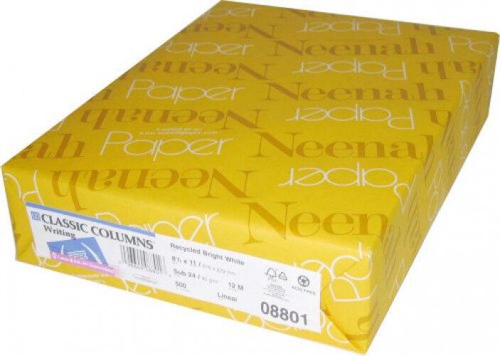 Classic Columns Bright White 80Cover 8.5 x11  250 Sheets
