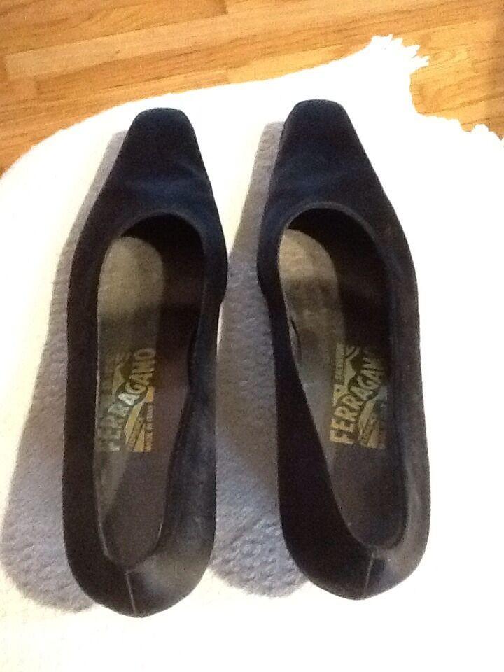 Vintage Ferragamo Boxy Heels With Rhinestone Heel Details  6B 6B 6B dc6412